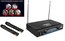 Karaoke Evento DJ Profesional Inalambrico 2 Microfonos Wireless VHF 4245