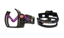 Vaportrail Limb Driver Pro V Arrow Rest, RH Black with Purple Arm and BSS Logo