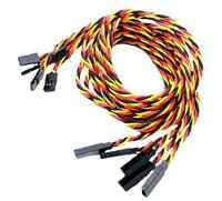 4x Servokabel Servo Kabel Verlängerung Verdrillt 100cm JR Graupner Twisted 22AWG