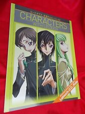 "CODE GEASS Lelouch of the Rebellion CHARACTERS WITH:LELOUCH 12""X9""  32 P BOOK"