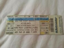 Nickelback Concert Ticket Stub - March 15, 2006 - All the Right Reasons Tour