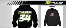 CUSTOM NAME AND NUMBER  HOODIE SWEAT SHIRT MX MOTOCROSS  Style #1
