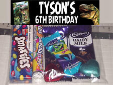 12 Personalised Birthday Party Lolly / Loot Bags with Dinosaur Print