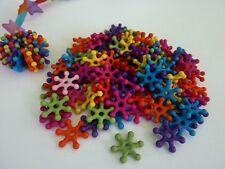 120 pce Acrylic Cogwheel Style Colourful  Bead Mix 14mm Jewellery Making Craft