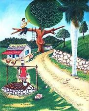 Original Art Arte Oil Painting Santeria Cuba Cuban Artist Osmar Pena Clavel 4