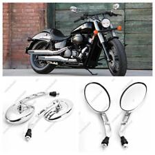 10mm Chrome Oval Motorcycle Mirrors For Honda Shadow Sabre VT VF 700 750 1100