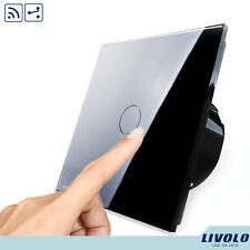 Interruptor Conmutador REMOTO Negro de Pared LIVOLO Panel Tactil - EU Versión