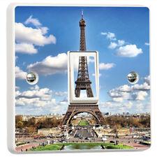 Torre Eiffel, París 3D Interruptor De Luz Pegatina de vinilo piel cubierta de Decoración de Pared Calcomanía