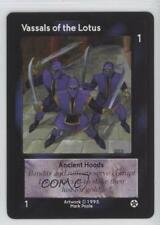 1995 Shadowfist Collectible Card Game #NoN Vassals of the Lotus Gaming 2ts