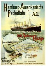 Ak publicidad aprox. 1985? reproducción!!! - Hamburg-americana Pack viaje AG Hapag