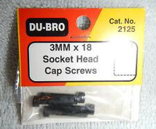 Du-Bro 3mmx18 Socket Head Cap Screws (4) #2125 - New