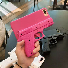 Fashion 3D Cool Weapons firearms pistol hard Case Cover for iPhone X 8 7 6S Plus