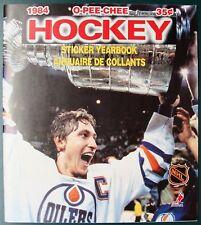 1984-85 O-PEE-CHEE OPC HOCKEY NHL UNUSED STICKER ALBUM - WAYNE GRETZKY COVER