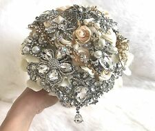 Wedding Bouquet Flowers Crystals Pearls