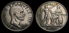 Italy 1928 20 Lire KM#69 VF Rare 6040