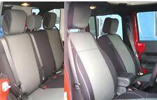 Jeep Wrangler JK neoprene seat cover full set 4 doors 2007-10 Gray JPno4d