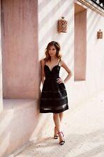 BNWT SIZE 14 Myleene Klass Black Mono Bow Mesh Occasion Party Dress rrp £70