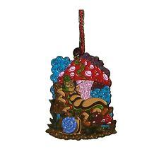 I GATTI DI NATALE-Scelta Ginger Smoking Tabby dipinta a mano Seaglass Albero Decorazione