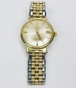 Vintage Omega Seamaster 14k gold Filled Watch With Original Band