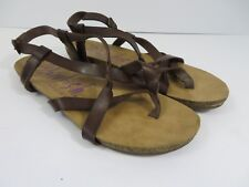 Blowfish Malibu Granola B Footbed Strappy Sandals Brown Size 7  #787