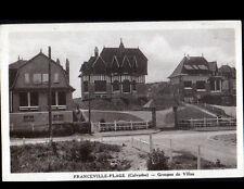 FRANCEVILLE (14) VILLAS en gros plan , cliché période 1930