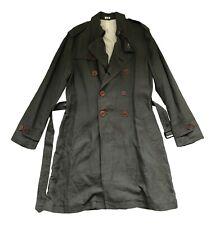 Paul smith Principal 100% Lin Kaki Olive Fashion Pluie Manteau Mac Taille M