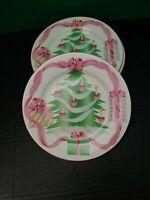 "Sango 4829 Home for Christmas Lot of Four 7 3/4"" Salad Desert China  Plates New"