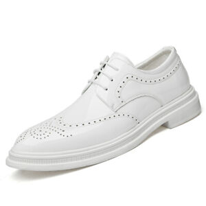 Mens Business Leisure Shoes Work Office Wing Tip Wedding Lace up Carved Casual L