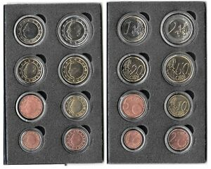 BELGIUM EURO COIN SET 1 CENT - 2 EURO 2002-2005 Uncirculated In Capsules. B14