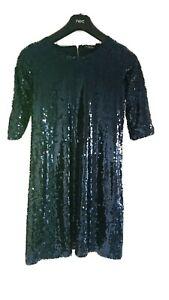 Esmara Heidi Klum navy blue sequin dress size 10