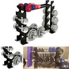 Dumbbell Rack Holder Free Weight Plate Stand Kettlebell Set Bench Heavy Duty New