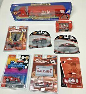 Dale Earnhardt Jr Budweiser NASCAR Diecast Lot of 8 - 1/64 Cars and Trailer Rig