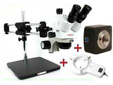 LONG REACH STEREO ZOOM MICROSCOPE, 18MP CAMERA & LED LIGHTS UK FACTORY &WARRANTY