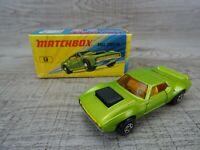 Vintage Lesney 1972 AMX Javelin No 9 Matchbox Superfast Toy Car Boxed #1