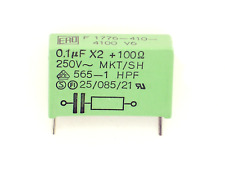 1x 0,1µF X2 + 100Ω 250V~ ERO F1776-410-4100 (Kondensator,RC-Unit,RC-Glied)A22