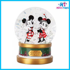 Disney Mickey Mouse and Minnie Mouse Holiday Snowglobe 2019 brand new