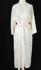 Dentelle Robe Satin Light Peach Belted Lace Trim Pockets Size M