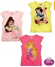 GIRLS KIDS OFFICIAL DISNEY PRINCESS T-SHIRTS