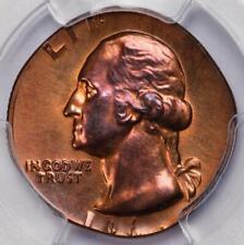 1967 PCGS MS65RB Washington Quarter Struck On Cent Planchet Off Metal Mint Error