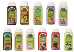 Johnson's Dog Cat Shampoo Sensitive Flea Medicated Deodorant