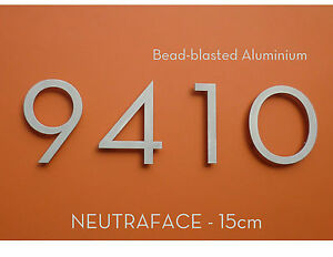 NEUTRAFACE Aluminium House Numbers - Large 15cm -  FAST, FREE DELIVERY
