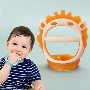 2pcs Adjustable Wristband Chew Toy Soft Silicone Safe Antibacterial Baby Teether