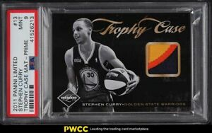 2011 Panini Limited Trophy Case Materials Stephen Curry PATCH /25 #13 PSA 9 MINT
