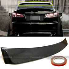Fit 06-13 Lexus IS250 IS350 ISF VIP Real Carbon Fiber Rear Top Roof Spoiler