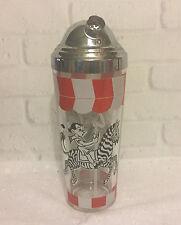 Vintage Hazel Atlas Carousel Horse Zebra Cocktail Shaker Mid Century Barware