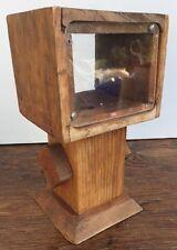 """Homemade Wooden 10"""" Gumball Machine Dispenser Holds Small Gum Balls Candy Decor"""