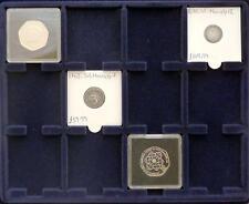 2 x S6 Lighthouse Cargo Coin Case 12 x 50 mm Quadrum Blue Felt Display Trays