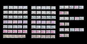 [R36] Malaysia Definitive Orchids 1965 Set of 91pcs complete MNH Fine