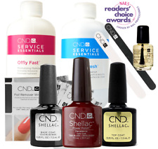 CND Shellac Starter Kit, Top/Base/Essentials/Color Decadence