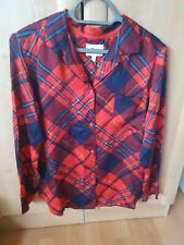 Ladies Next Red and blue checked pyjama top size 8